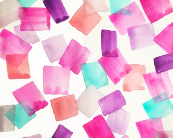 Confetti Gems | Print from Original Watercolor Painting