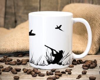 Hunting Scene Pheasant Shooting Mug - Gift Mugs - Hunting - Pheasant - Wild Fowler - Shooting - Christmas Birthday Gift - Coffee Cup - Mug