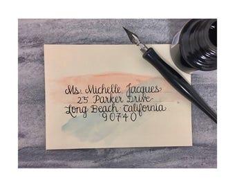 Watercolor & Lettering on Envelopes