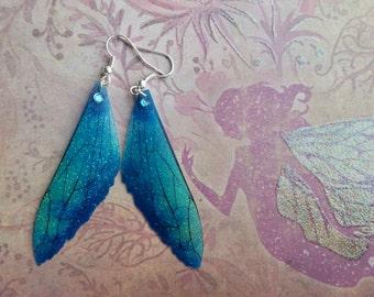 Magical Winter-Blue wing Earrings