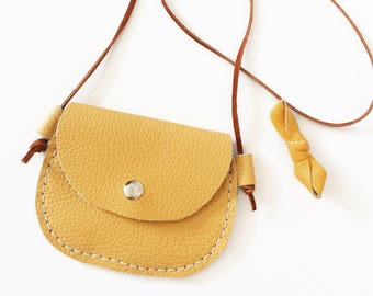 Leather toddler purse