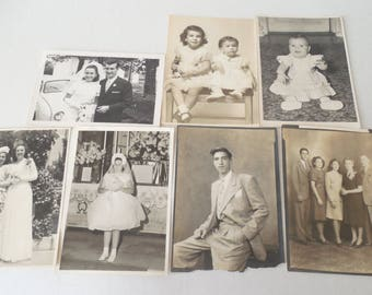 Vintage/Antique Lot of Old B&W Photographs 1940's, 50's and 60's #10// Paper Ephemera