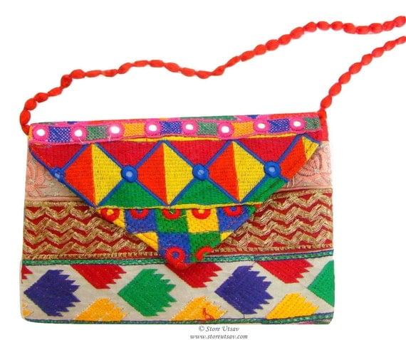Handbag Handmade Sling Bag Purse Clutch Indian handicraft