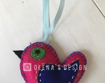 Felt ornament felt bird Easter Christmas Baby Shower birthday decoration ornament holiday accessory felt décor