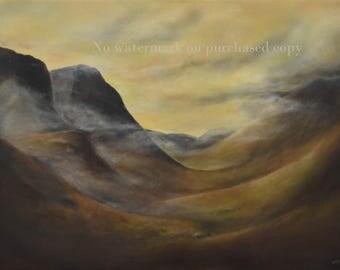 Glencoe Scotland Original Art - Beautifully printed - scotland mountain art