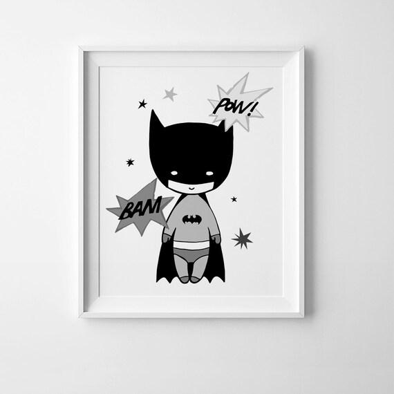 Batman Printable Art Playroom Decor Scandinavian Print
