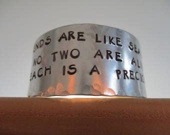 Friends Are Like Sea Glass-Bracelet