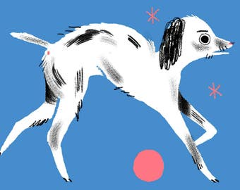 Blue Dog A4 Limited Edition Risograph Print
