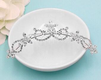 Rhinestone Crystal flower girl headpiece, wedding tiara, wedding headpiece, rhinestone tiara, rhinestone, crystal bridal accessories