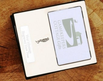 Cowgirl Design Silver Personalised Photo Album FREE ENGRAVING pewter emblem holds 100 6x4 photos