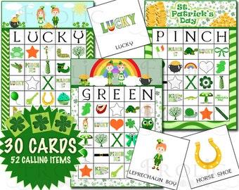St. Patrick's Day Bingo 30 Cards Printable INSTANT DOWNLOAD
