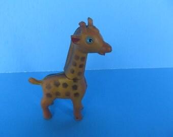 Giraffe - rubber Giraffe - Vintage collectable Toy -