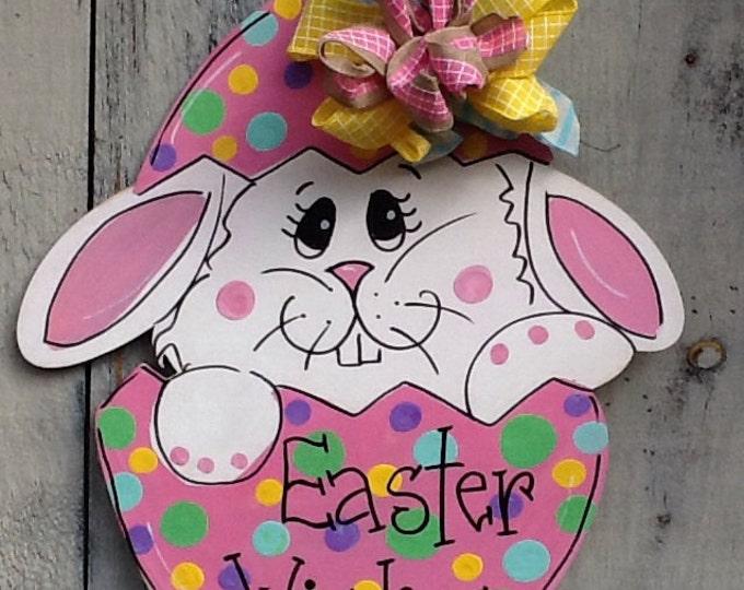 Peter rabbit door hanger, easter bunny door hanger, spring bunny door hanger