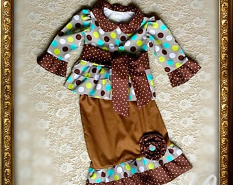 GIRLS BROWN DRESS modest jacket skirt outfit girls fall dress