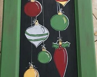Christmas decor | Christmas painting | christmas ornament painting | merry christmas painting |