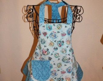 Child's Small Blue Tea Cup Apron