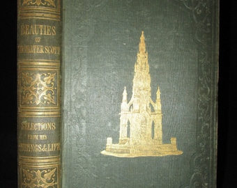 Beauties of Sir Walter Scott 1849 Antique Rare Poetry Book