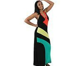 Red yellow and green Rasta Dress
