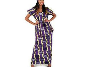 African Print Top and wrap Skirt