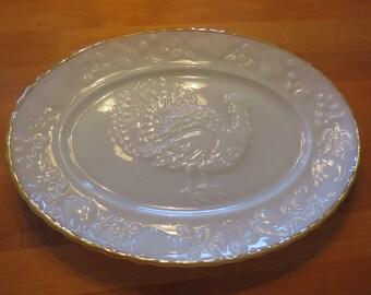 Anchor Hocking, Anchor Hocking Platter, Milk Glass, Turkey Platter, Meat Platter, Milk Glass Platter, Thanksgiving Platter, Meat Plate