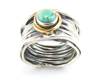 Sterling Silver and Apatite ring