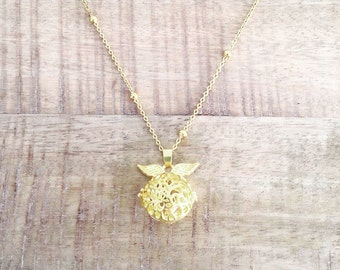 I Open at the Close - Golden Snitch Necklace | Harry Potter Snitch from Dumbledore | Hogwarts