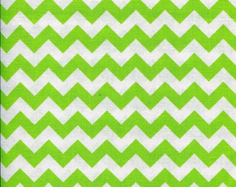 Chevron Zig Zag Sour Apple Green Fabric