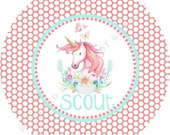 Unicorn plate or bowl- Personalized melamine plate- Personalized plate- Unicorn bowl- with Name - Unicorn Melamine plate- Melamine unicorn