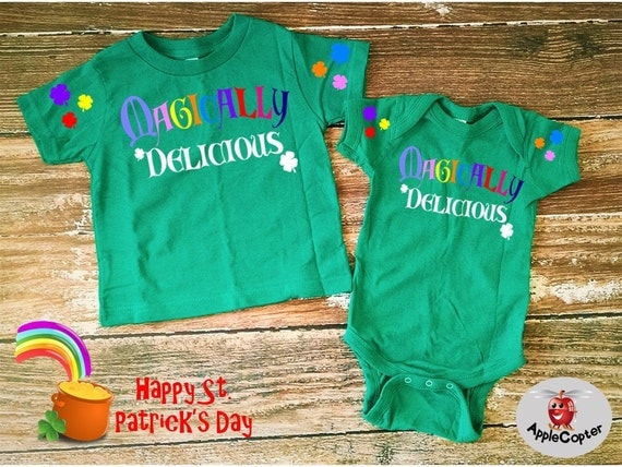 Novelty baby gifts ireland : Items similar to baby s first st patrick day outfit