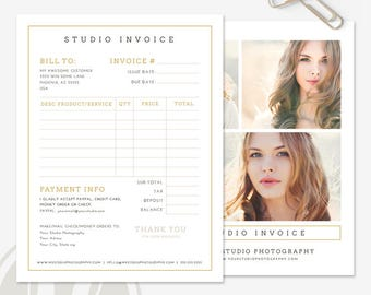 Photography Invoice - Photography Invoice Template, Photography Invoice Form, Photographer Invoice, Instant Download, Invoice Form Template