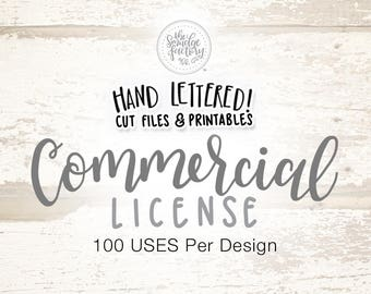 Commercial Use Licensing - 100 Uses