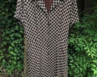 Vintage 90's Liz Claiborne Dress, 1990's Designer Dress, Size 12