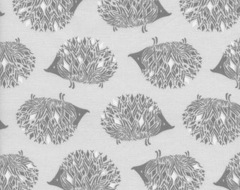 Cotton Fabric by the yard - Modern quilting cotton - Fat quarter - Cotton and Steel Fabric - Sleep Tight Collection - Prickles in grey