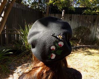 Hand Embroidered Beret