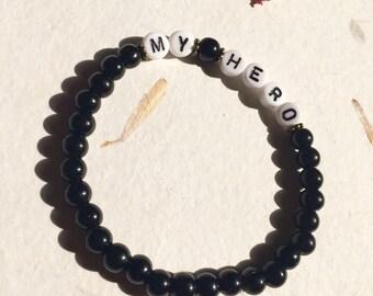 "Man bracelet ""My hero"""