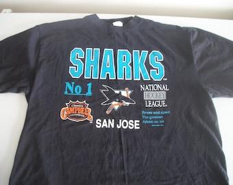 San Jose Sharks team shirt 1992