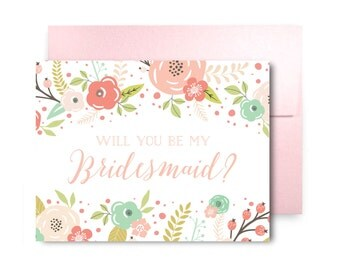 Will You Be My Bridesmaid Card, Bridesmaid Cards, Ask Bridesmaid, Bridesmaid Maid of Honor Gift, Matron of Honor, Flower Girl #CL329