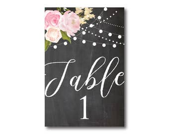 Wedding Table Numbers, Rustic Table Numbers, Printed Table Numbers, Wedding Table Numbers, Table Number Sign, Reception Table Numbers #CL104