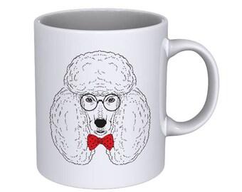 Hand drawn fashion portrait of a poodle - Coffee Mug - Best Gift !!!