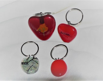 Fused Glass Key Chains