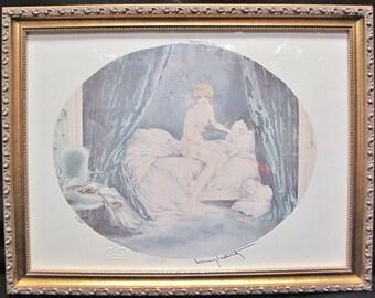 Louis ICART Oval Print 1929 Embossed Paris 107/1000