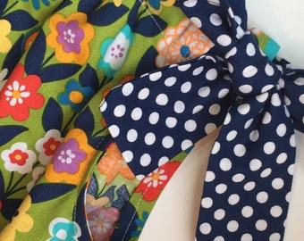 Girls 4T pillow case dress, spring dress, summer dress, sun dress, church dress, party  dress, floral polkadot dress, Easter dress