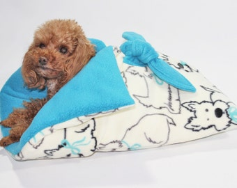 Snuggle Sack Bed for Teacup Dogs, Cats, Dolls, Stuffed Animals