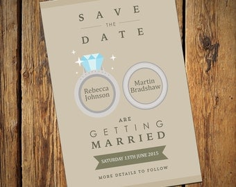 Wedding Save The Date Invitations No. 5