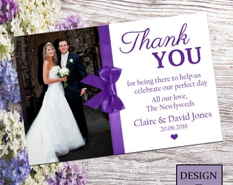 Wedding Personalised Thankyou Card No. 5