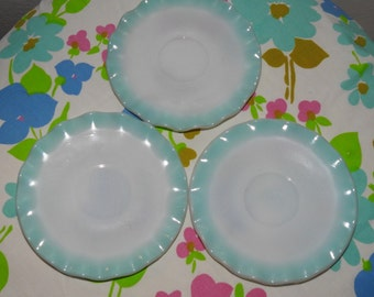 Hazel Atlas blue crinoline saucers