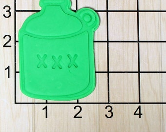 Moonshine Jug Fondant Cookie Cutter and Stamp #1658
