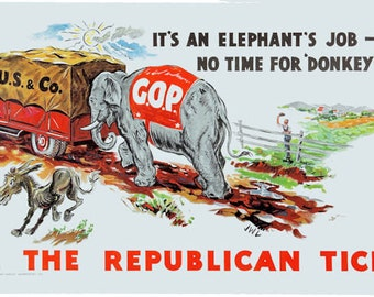 Vote Republican Poster - FREE Shipping