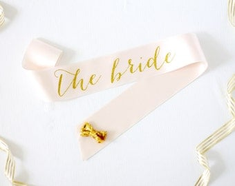 The Bride Bachelorette Sash in Font #1 - Bachelorette Sash - Bachelorette Party - Bride Gift - Bride Sash - Bridal Shower