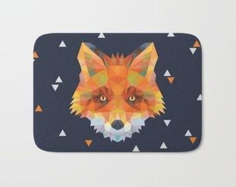 Fox Bath Mat - Woodland Bathroom Decor - Fox Rug - Bathmat - Kids Bathroom Decor